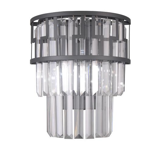 Fekete modern fali lámpa Filip E14 2-izzó