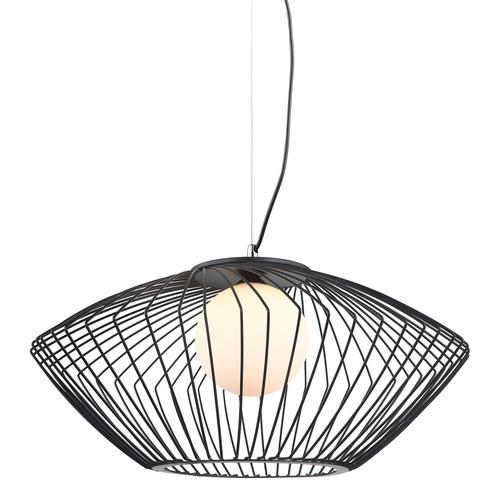 Fekete Zeno E27 medál lámpa