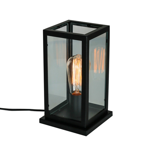 Fekete asztali lámpa Laverno E27