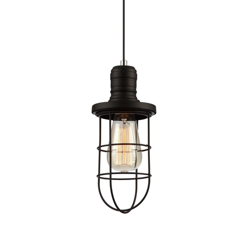 Fekete Synthia E27 medál lámpa