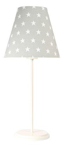 Szürke asztali lámpa Ombrello 60W E27 50cm csillagok