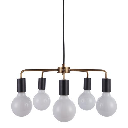 Fekete Irina E27 medál lámpa, 5 izzós