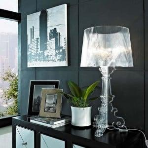 Glamour asztali lámpa Kartell BOURGIE Transparent small 1
