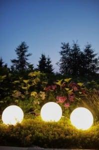 Dekoratív kerti labdák szett 25 cm 30 cm 40 cm + 3x RGB Led + Remote small 4